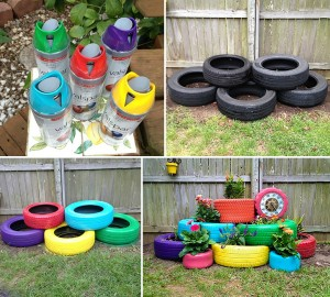 15 recycled-tires-garden-pots