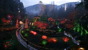 Butchart Gardens at Christmas